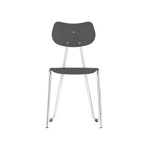 Arno 417 Chair Grey Stained Beech/Chrome Frame