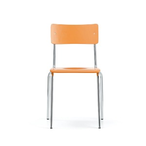 Comeback 041 Chair Orange Stained Beech/Chrome Frame