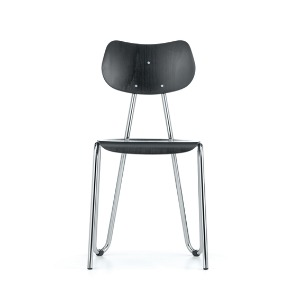 Arno 417 Chair Black Stained Beech/Chrome Frame