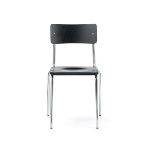 Comeback 041 Chair Black Stained Beech/Chrome Frame