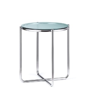 Dessau Side Table H70 Glass Top / Chrome Frame