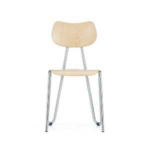 Arno 417 Chair Natural Beech / Chrome