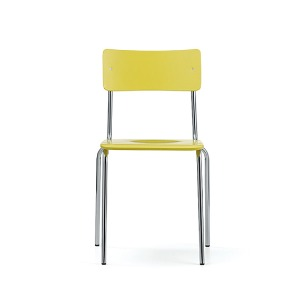 Comeback 041 Chair Yellow Stained Beech/Chrome Frame