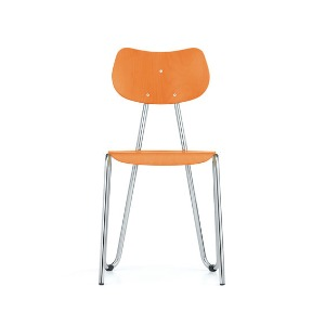 Arno 417 Chair Orange Stained Beech/Chrome Frame