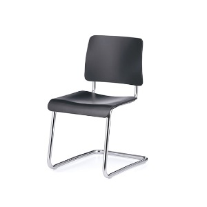 Weimar 5012 Chair Black stained Beech/Chrome Frame
