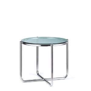 Dessau Side Table H52.5 Glass Top / Chrome Frame