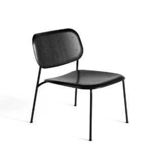 Soft Edge10 Lounge Black / Black Powder Coated Steel Legs