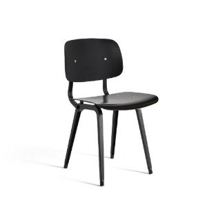 Revolt Chair Black Powder Coated Steel-Black