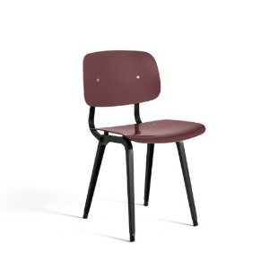 Revolt Chair Black Powder Coated Steel-Plum Red